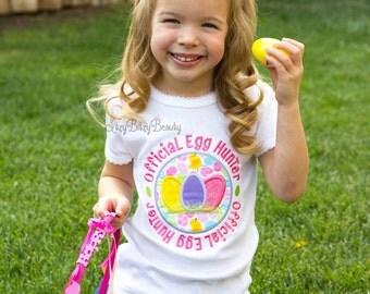 Girls official easter egg hunt hunter embroidered shirt pink pastel bright colors