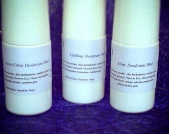 Natural, Non Toxic Roll on Deodorant, made with Aloe Vera and Essential oils