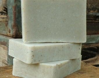 Tea Tree Mint handmade artisan soap bar- handcrafted natural vegan facial soap