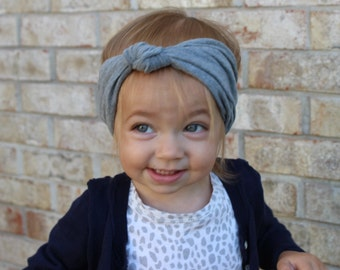 Knotted Turban// baby head wrap
