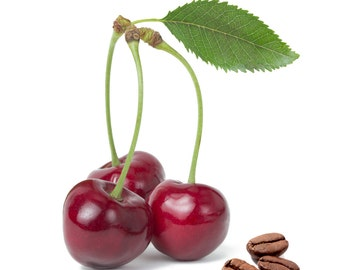 Coffee Cherry Amaretto or Cherry Flavored, Fresh roasted coffee