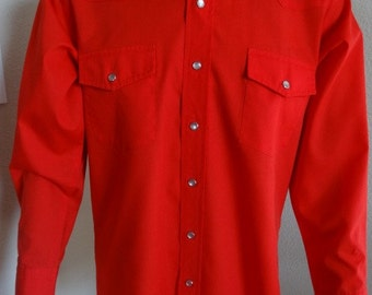 "Vintage 'Malco Modes Of San Francisco' Cowboy Shirt MADE IN USA - Chest 42"" Length 29"""