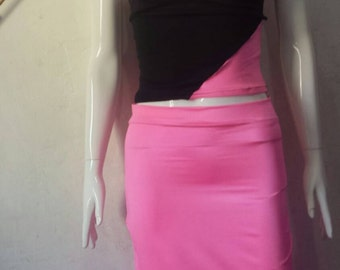 Pink pencil skirt set