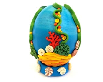 Easter Polymer Clay Egg