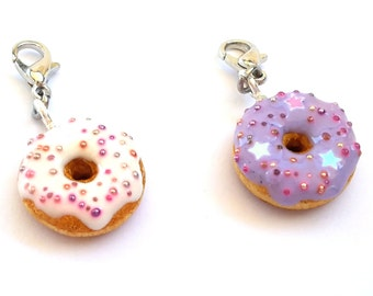 Planner Charm, Midori Charm, Polymer Clay Donut Charm, Travelers Notebook Charm
