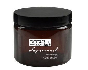 Natural Deep Conditioning Detox  Clay & Seaweed Hair Mask Treatment