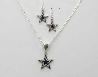 Dallas Cowboys Football   necklace & earrings.