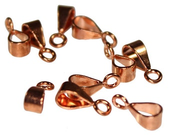 Copper Bail with Closed Ring 11x4mm (Pkg of 24) (910CU-02)