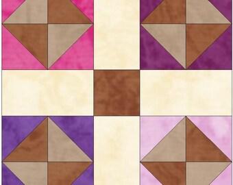 Garden of Eden Chain Paper Piece Templates Quilting Block Pattern PDF