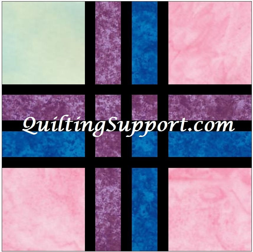 stained glass window quilt instructions