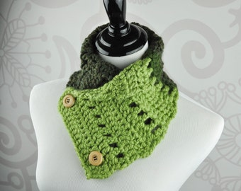 Neckwarmer - Scarf - Green - Crochet