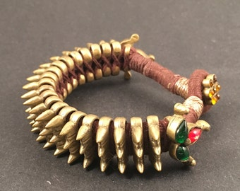 Bronze Tribal Spike Cuff Handcrafted by Indian Artisans