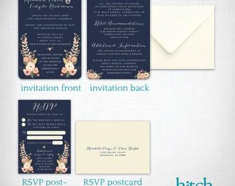 Wedding invitations: Meredith + Cody