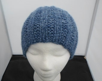 Blue Alpaca Wool Cap
