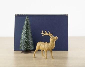 Vintage Christmas Reindeer, Christmas Deer, Plastic Reindeer Ornaments, Old Fashioned Christmas Decorations, Holiday Decor, Mantle Decor