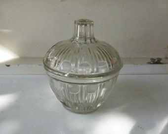 Sugar bowl vintage 1950, in glass, design