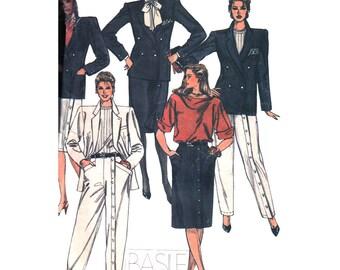 McCall's Sewing Pattern 8875 Misses' Jacket, Skirt, Pants  Size:  12  Uncut