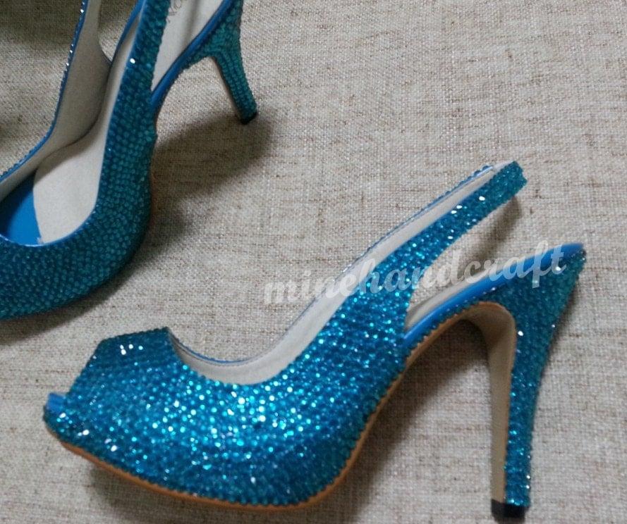 Turquoise Blue Heels Fs Heel