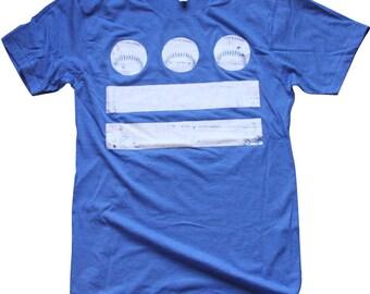 DC Baseball Flag Tee (Light Blue) - XLarge