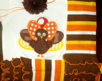 Baby Girl Thanksgiving Outfit, Girl Thanksgiving Outfit, Girl Turkey Thanksgiving Outfit, Girl Turkey Outfit, Girl Outfits for Thanksgiving