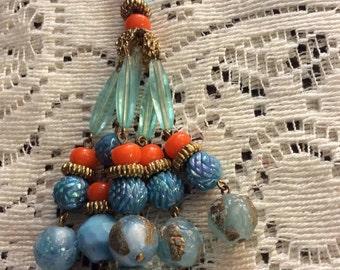 Vintage Beaded/Hippy Necklace/Boho