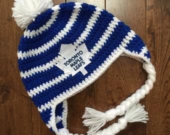 Knitting Patterns Maple Leaf Hat : Hockey boy crocheted Etsy