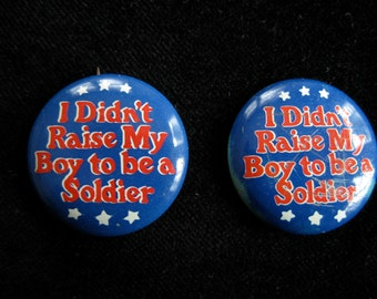 1960s Anti Vietnam War Protest Badge Pin