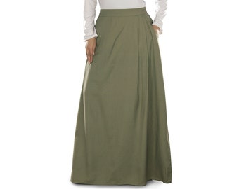 Aksa Rayon Henna Long Skirt AS009 Islamic Formal, Daily & Casual Wear Made In Soft Rayon Fabric, Muslim Ladies Skirt