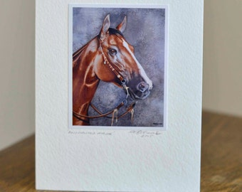 Stunning Quarter Horse Greetings Card
