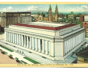 Vintage Linen Postcard -  Mellon Institute at Pittsburgh Pennsylvania  (1672)