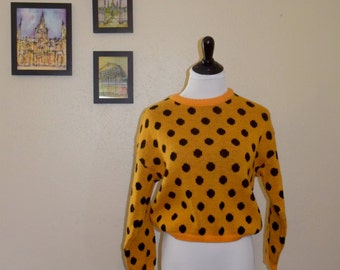 Yellow Polka Dot Vintage Sweater