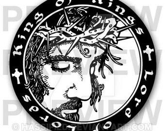 King of Kings, Lord of Lords - Printable vector, svg, jpeg