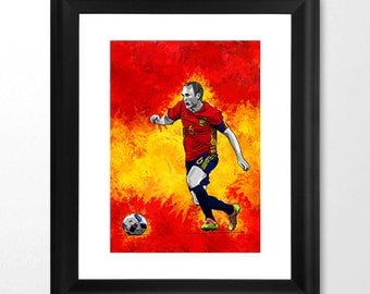 Andreas Iniesta Spain - euro2016