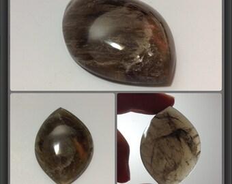 Large Smokey quartz cabochon 44x32x11mm