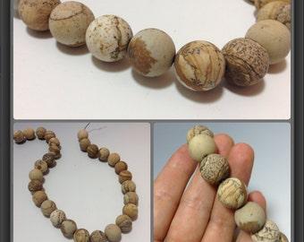 Jasper beads 14mm diameter