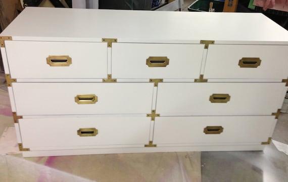 Campaign 7 Drawer Dresser Brass Hardware