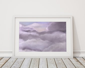 Beyond the Clouds Print from Pastel Drawing