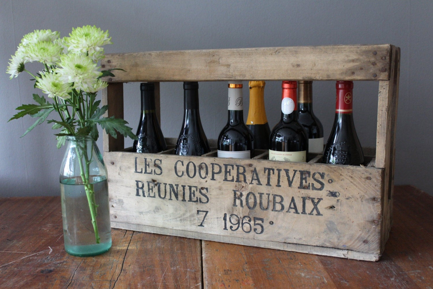 French vintage wooden wine crate – Haute Juice