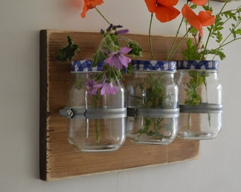 Mason Jar Wall Decor Farmhouse Decor Country Decor Rustic Decor Wall Hanging