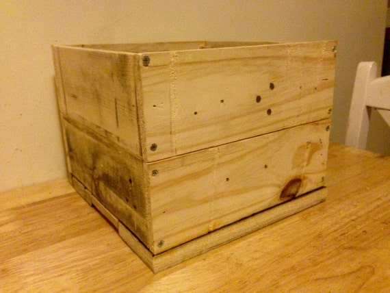 Rustic Oak Wood Planter Box, Square Wooden Crate Planter ...   Unfinished Wood Planter Boxes
