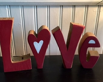 Valentine's Day handmade red Love Letters