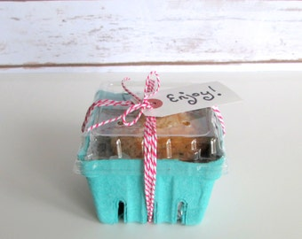 6 qty. Pint Berry Baskets and Lids, 6 Lids and 6 Baskets, Rustic Favor Basket, Picnic and Barbecue Supplies