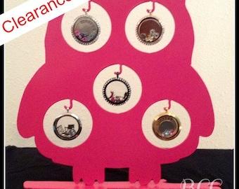 Owl Locket Display- Pink (LIMITED QUANTITIES)