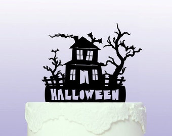 Haunted House Cake Topper that can be personalised.