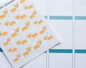 Mini Set of Corgi Dog Matte Stickers for Planners/Crafts