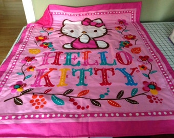 Hand quilted Hello Kitty quilt