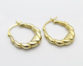Vintage Gold Vermeil on Sterling Silver Earrings BAD CONDITION. [5288]