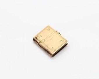 Antique Keepsake Picture Book Engraved Dewilde in 14K Rose Gold. [10594]