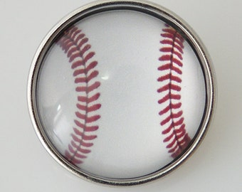 KB2504-n Art Glass Print Chunk - Baseball