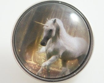 KB2582-n Art Glass Print Chunk - Unicorn